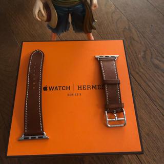 アップルウォッチ(Apple Watch)のエルメス 正規品 Apple Watch 38mm 用 レザーベルト(レザーベルト)