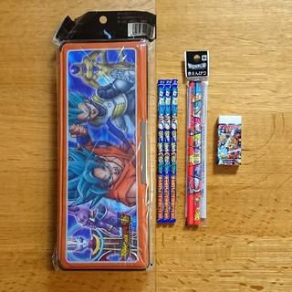 ドラゴンボール(ドラゴンボール)の【新品】ドラゴンボール超  3D筆箱 鉛筆 2B 赤鉛筆 消しゴム (ペンケース/筆箱)