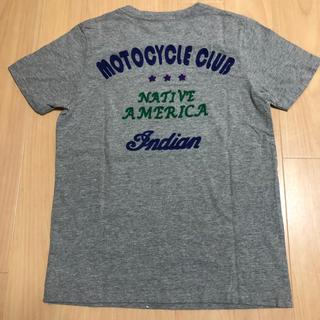 インディアン(Indian)のIndian motocycle Tシャツ チェーンステッチ グレー Sサイズ(Tシャツ(半袖/袖なし))