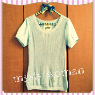 ミスティウーマン(mysty woman)の今季*mysty woman ニット半袖(Tシャツ(半袖/袖なし))