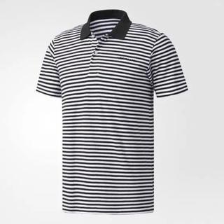 アディダス(adidas)の新品❣️アディダスメンズ半袖ボーダーポロシャツL(ポロシャツ)