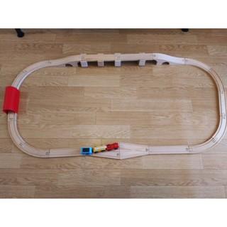 イケア(IKEA)のIKEA 木製レール+列車 set (電車のおもちゃ/車)