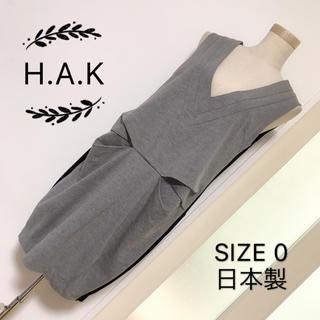 ハク(H.A.K)のH.A.K バイカラー ワンピース(ひざ丈ワンピース)