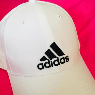 アディダス(adidas)のアディダスadidasキャップ白✨美品(キャップ)