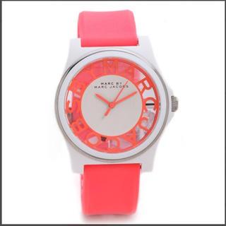 マークバイマークジェイコブス(MARC BY MARC JACOBS)の新品 マークバイマーク 腕時計 レディース スケルトン ピンク シリコンベルト (腕時計)