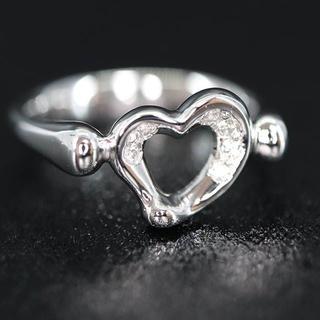 ティファニー(Tiffany & Co.)のTiffany Pt950 オープンハート 6Pダイヤモンド リング(リング(指輪))