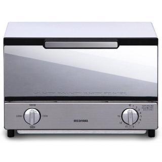 ★大人気★ アイリスオーヤマ オーブントースター トースト2枚 ミラー調 横型(電子レンジ)