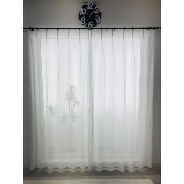 tomoko様 専用 レースカーテン 150㎝×127㎝ 2枚 インテリア/住まい/日用品のカーテン/ブラインド(レースカーテン)の商品写真