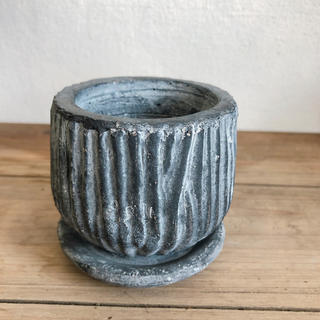 こっくり可愛い陶器鉢*ルミオラ*グレー*S(その他)