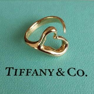 ティファニー(Tiffany & Co.)のTIFFANY オープンハートリング 750 YG(リング(指輪))