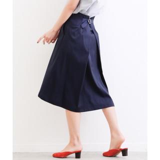 アバハウスドゥヴィネット(Abahouse Devinette)のサテンタンブラースカート(ひざ丈スカート)