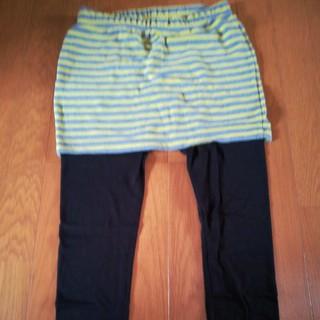 ジーユー(GU)のスカート付きレギンス M(レギンス/スパッツ)