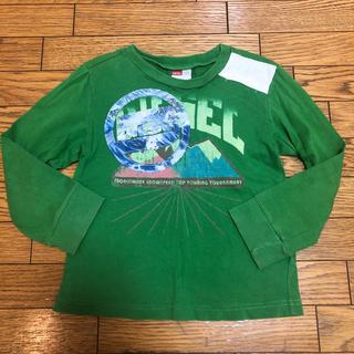 ディーゼル(DIESEL)のDIESEL kids ロンT グリーン 緑 USED加工(Tシャツ/カットソー)