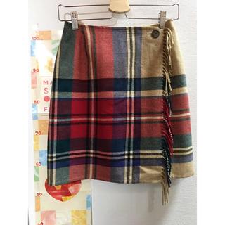 ニジュウサンク(23区)の23区 チェックの巻きスカート(ひざ丈スカート)