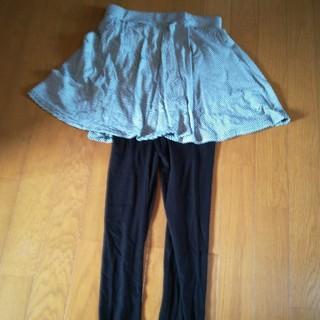 ジーユー(GU)のスカート付きレギンスM(レギンス/スパッツ)