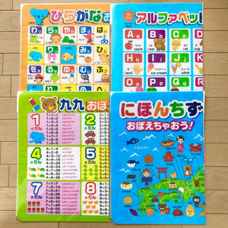 セット★お風呂ポスター ひらがな ABC 九九 地図★お風呂 おもちゃ(お風呂のおもちゃ)
