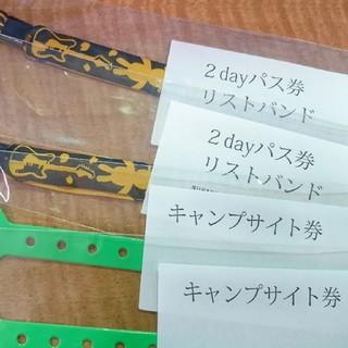 ARABAKI2日通し入場券チケット+キャンプ券×2枚 アラバキ 荒吐(音楽フェス)
