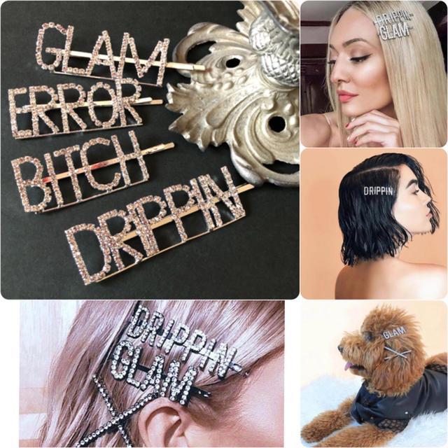 G.V.G.V.(ジーヴィジーヴィ)のHELLO様専用❤️コレクションで人気沸騰!ラインストーンレタリングヘアピン レディースのヘアアクセサリー(ヘアピン)の商品写真