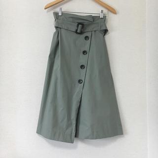 しまむら - トレンチスカート カーキ 濃緑 オリーブ