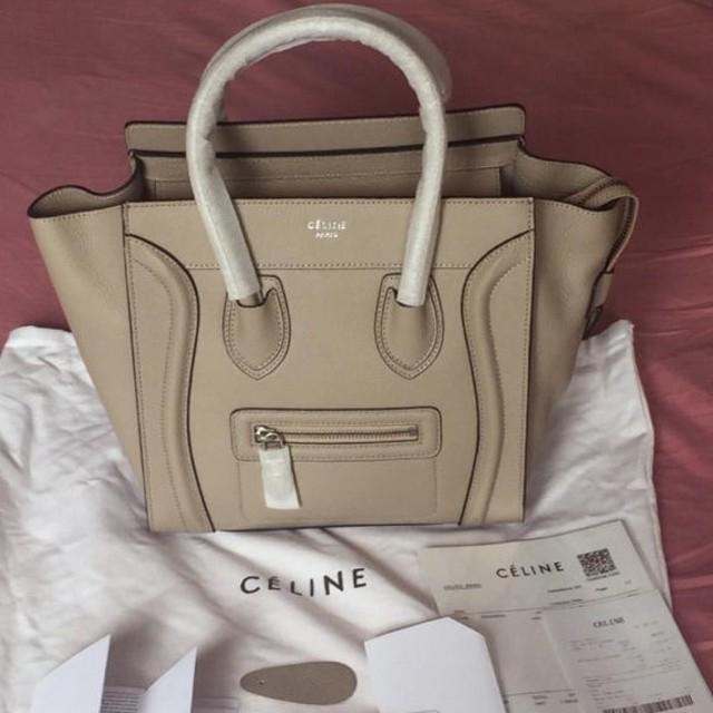 8f03c8c706ab celine(セリーヌ)のセリーヌラゲージマイクロサイズグレージュ色 レディースのバッグ(トート