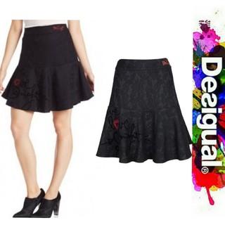 デシグアル(DESIGUAL)のDesigual レースデザイン ジャージ フレア スカート(ひざ丈スカート)