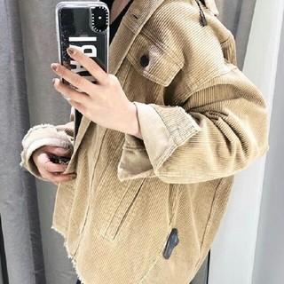ザラ(ZARA)のZARA 正規品コーデュロイジャケット サンド 人気 完売商品(ミリタリージャケット)
