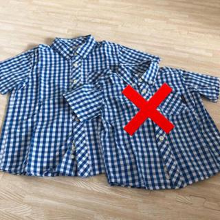 ニシマツヤ(西松屋)のチェックシャツ 120(ブラウス)