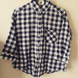 ジーユー(GU)のg.u. チェックシャツ(シャツ/ブラウス(半袖/袖なし))
