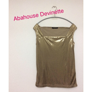 アバハウスドゥヴィネット(Abahouse Devinette)の【未使用】Abahouse Devinette ラメ タンクトップ キャミソール(タンクトップ)