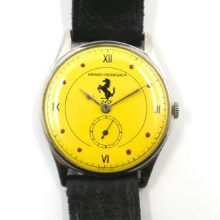 ジラールペルゴ(GIRARD-PERREGAUX)の正規品 レア ジラールぺルゴ フェラーリ ダブルネーム 手巻 時計 アンティーク(腕時計(アナログ))