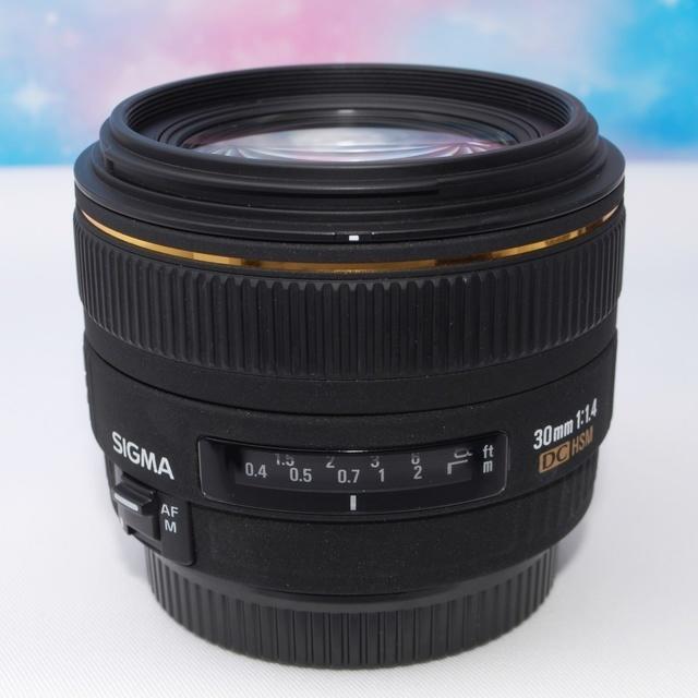 SIGMA(シグマ)の【極上美品】大人気!単焦点レンズ☆シグマ30mmF1.4 キャノン用☆彡 スマホ/家電/カメラのカメラ(レンズ(単焦点))の商品写真