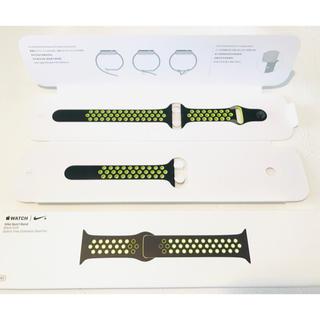 Apple Watch ブラック/ボルトNikeスポーツバンド 38mm40mm