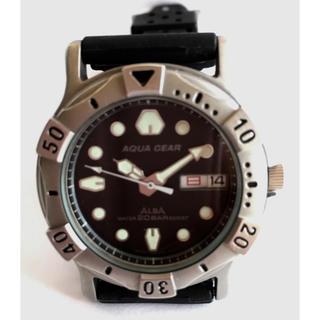 アルバ(ALBA)のALBA アクアギア 純正バンド 電池交換 新品交換済み 送料無料(腕時計(アナログ))