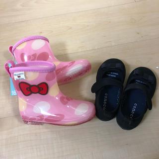 ハローキティ(ハローキティ)の16cm新品キティ長靴とフォーマル靴セット(長靴/レインシューズ)