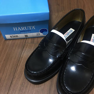 ハルタ(HARUTA)のHARUTA 革靴 ローファー 黒 23センチ(ローファー/革靴)