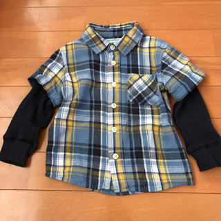 ニシマツヤ(西松屋)のチェックシャツ 90(ブラウス)