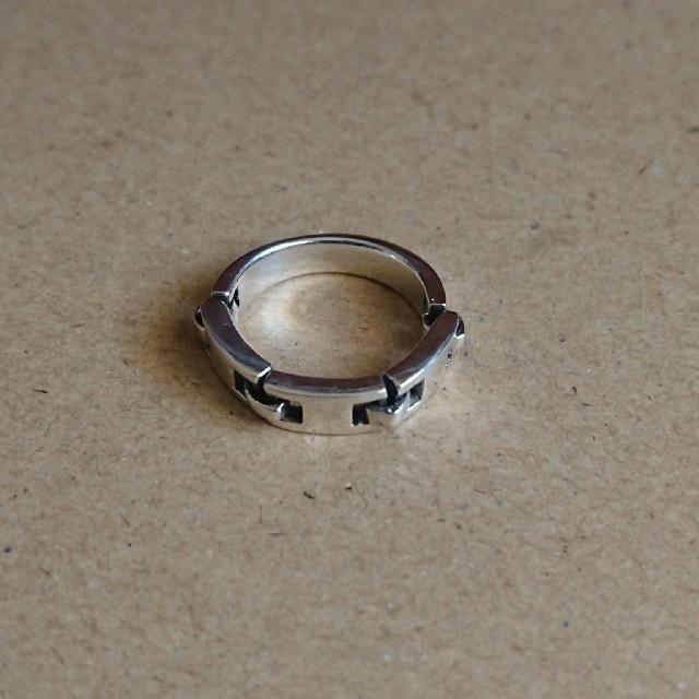 小指サイズ   シルバーリングと珊瑚のリング レディースのアクセサリー(リング(指輪))の商品写真