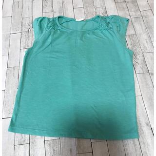ジーユー(GU)のGU ミントカラーTシャツ 130(Tシャツ/カットソー)