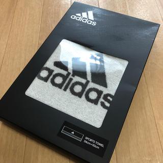 アディダス(adidas)のadidas/アディダス/スポーツタオル/新品/ブラック×ホワイト(タオル/バス用品)