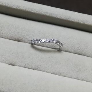 アガット(agete)のPt900 プラチナ ダイヤモンド ハーフエタニティ ピンキー リング 指輪(リング(指輪))