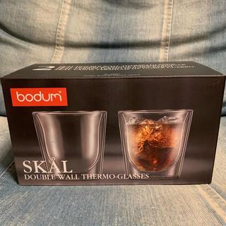 ボダム(bodum)のボダム スカル ペア グラス 新品未使用品(グラス/カップ)