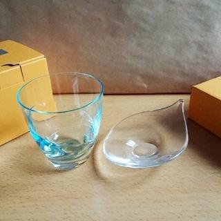 スガハラ(Sghr)の【新品未使用】スガハラグラス グラス&プレート ペアセット (グラス/カップ)