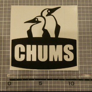 チャムス(CHUMS)のチャムス ステッカー 黒 1枚(しおり/ステッカー)