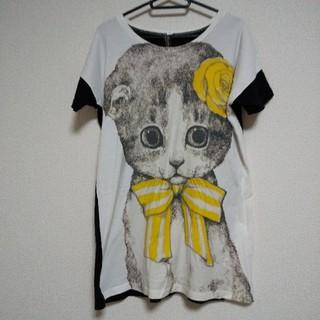 アチャチュムムチャチャ(AHCAHCUM.muchacha)のあちゃちゅむ ヒグチユウコ猫トップス(Tシャツ(半袖/袖なし))
