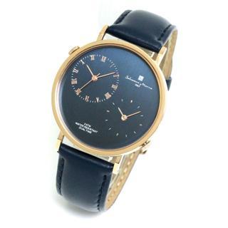 サルバトーレマーラ(Salvatore Marra)のサルバトーレマーラ デュアルタイム メンズ 腕時計 レザーベルト 本革 シンプル(レザーベルト)