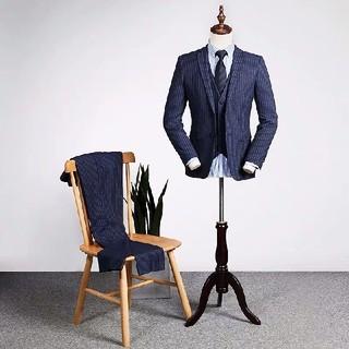 スーツ細身 3ピーススーツ メンズ スリーピーススーツ ビジネススーツ 結婚式(セットアップ)