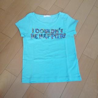 ジーユー(GU)のTシャツ サイズ110 水色(Tシャツ/カットソー)