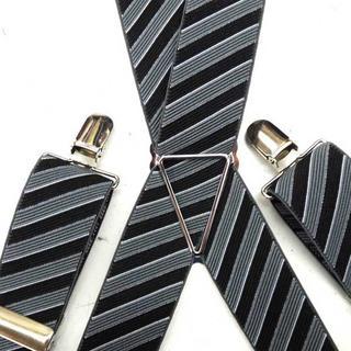 日本縫製 35mm ゲバルト サスペンダー ベルギーゴム バイアスライン(サスペンダー)