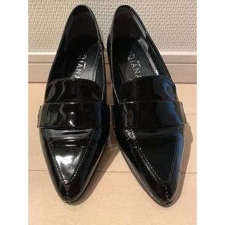 ダイアナ(DIANA)のGinza Dianaフラットシューズ 黒 23cm(ローファー/革靴)