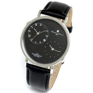 サルバトーレマーラ(Salvatore Marra)のデュアルタイム レザーベルト メンズ 腕時計 サルバトーレマーラ 本革 シンプル(その他)